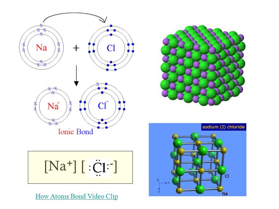 [Na+] [ -] How Atoms Bond Video Clip